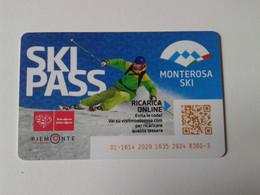 Alt1103 Skipass Elettronico Area Monterosa Ski Funivia Cablecar Téléphérique Gabiet Champoluc Gressoney Alagna - Invierno