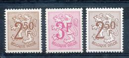 [150780]SUP//**/Mnh-[1544/45+POLY] Belgique 1970, Lion Héraldique, Avec Le Papier Polyvalent, SNC - 1951-1975 Heraldic Lion