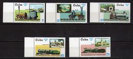 Cuba 2002 Steam Locomotives.Transportation.Railways. Trains. MNH - Neufs