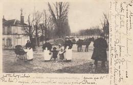 89 - Auxerre - Beau Cliché Animé Des Promenades Vers La Porte D'Egleny - Attelage - Landau - Auxerre