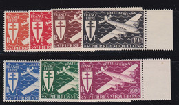 PA N° 4/10 De Saint Pierre Et Miquelon , Neufs Sans Charnière Bord De Feuille - Unused Stamps