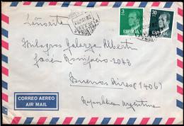 España - 1982 - Carta - Enviada A Argentina - Correo Aereo - Rey Juan Carlos - A1RR2 - 1981-90 Cartas