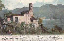SWITZERLAND-SCHWEIZ-SUISSE-SVIZZERA-LUGANO- CHIESA DI CASTAGNOLA-CARTOLINA  VIAGGIATA IL 6-6-1903 - TI Ticino