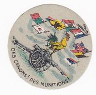 Vignette Militaire Delandre - Patriotique - Des Canons! Des Munitions! Coq - Militario