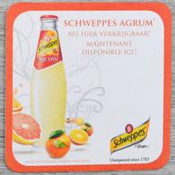 Sous-bock SCHWEPPES Agrum' (orange, Citron, Pamplemousse) Bierdeckel Bierviltje Coaster (CX) - Portavasos