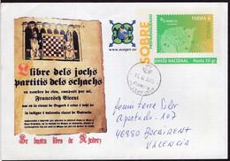España - 2013 - Lettre - Enveloppe Thématique - Cachet Spécial - Tournois - Thème Des échecs - Ajedrez - Chess - A1RR2 - Scacchi