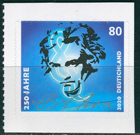 BRD - Mi 3520 Gestanzt Aus MH 116 - ** Postfrisch (B) - 80C          Ludwig Van Beethoven - Ausgabe 02.03.2020 - Unused Stamps