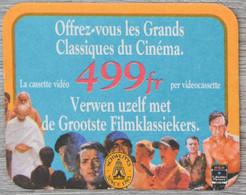 Sous-bock SCHWEPPES Grands Classiques Du Cinéma (cassette Vidéo) Bierdeckel Bierviltje Coaster (N) - Portavasos