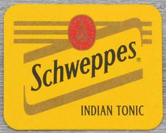 Sous-bock SCHWEPPES Indian Tonic Bierdeckel Bierviltje Coaster (L) - Portavasos