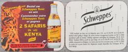 Sous-bock SCHWEPPES Indian Tonic Safaris Au Kenya (tigre, Félin) Bierdeckel Bierviltje Coaster (CX) - Portavasos