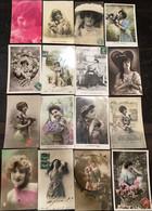 178 CPA Fantaisie Femmes, éditeurs Et Studios Divers, FURIA, Fauvette,R, Croissant, SIA, Lotus, ELD, PC, Oliviery  Etc. - Donne