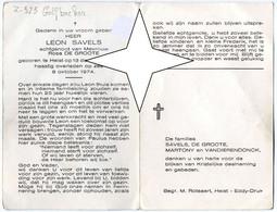 Savels Leon, 13.12.1921 - 08.10.1974, Heist (ongeval Op Zee Aan Boord Van Z.525 Golfbreker) Visser (Doos 25) Zeebrugge - Santini