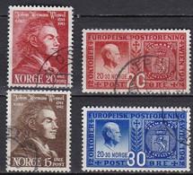 NO048 – NORVEGE - NORWAY – 1942-43 – J. HERMAN & POSTAL CONGRESS – SG # 337/40 USED 6,25 € - Gebruikt
