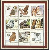 NS0460 2001 GUINEA-BISSAU OWLS FAUNA BIRDS OF PREY 1KB MNH - Owls