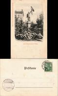 Ansichtskarte Merzig Kränze Vor Dem Kreis-Kriegerdenkmal 1901 - Kreis Merzig-Wadern