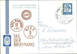 CPA Kiel In Schleswig Holstein, Tag Der Briefmarke 1963, Alte Kieler Poststempel Von 1863 - Andere