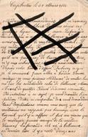 Lot 5 Lettres écrites .Cap Breton 1885 Capbreton 1892 1889 1886 à Propos De Métaieries Dans Les Landes 40 RESINIERS PINS - Historische Dokumente
