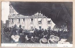 X75154 Rare Carte-Photo PARIS 27 Mai 1907 Réception Roi NORWEGE Reine MAUD FALLIERES Gare BOIS-de-BOULOGNE à GINESTOUS - District 16