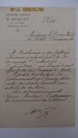 """NOTE DE L'Imprimerie HUGUET ( VERDUN ) à Mr Le Directeur Du """" PETIT DEMOCRATE """" / S.D. - Autographs"""