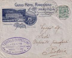 Busta Grand Hotel Appennino ( Pracchia - Pistoia ) Affrancata 5 Centesimi - Storia Postale