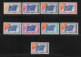 FRANCE  ( FRS - 13 )  1963  N° YVERT ET TELLIER  N° 27/35   N** - Ungebraucht