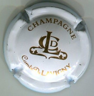 CAPSULE-CHAMPAGNE COMTE DE LAVIGNY N°03 Blanc Cassé Et Or Cuivré - Altri