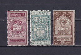ITALY 1921, Mi# 141-143, CV €24, Art, MH - Nuovi