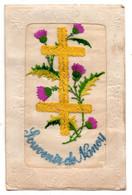 Nancy. Souvenir. Carte Brodée.Croix De Lorraine. - Nancy
