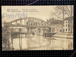 Postkaart / CPA Ca 1939 Dendermonde / Termonde - Passerelle En Bogaerdsbrug / Passerelle Sur La Dendre - Dendermonde