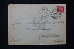 """ITALIE - Enveloppe De Asti Pour La France En 1945 Avec Cachet De Contrôle """" Transitata """" De Genova - L 80957 - Marcofilía"""