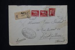 ITALIE - Enveloppe En Recommandé De Asti Pour La France En 1945 Avec Cachet De Contrôle Censor Ship  - L 80961 - Marcofilía