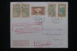 MADAGASCAR - Enveloppe De Tananarive Pour Paris En 1936 Par 1er Vol Sabena ( Via Le Congo Belge )  - L 80965 - Covers & Documents