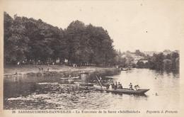 "CPA - Sarreguemines - Hanweiler - La Traversée De La Sarre "" Schiffnickel "" - Sarreguemines"
