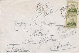 Barcelone (Espagne) Recommandé Aves AR  Pour Aire Sur Adour 1938 CAD Divers - Lettres & Documents