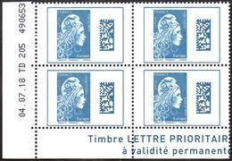 France Coin Daté N° 5257 ** Marianne De L'Engagé. Datamatrix Europe  - Du 04.07.2018 - 2010-....