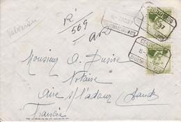 Barcelone (Espagne) Recommandé Aves AR  Pour Aire Sur Adour 1937 CAD Divers - Lettres & Documents