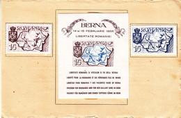 Roumanie - Document De 1955 - Liberté Pour Les Roumains - Contre La Russie - Ours - Armoiries - Valeur 80 Euros - Briefe U. Dokumente