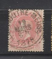 COB 34 Centraal Gestempeld Oblitération Centrale LIEGE (OUTRE-MEUSE) - 1869-1883 Leopold II