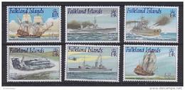 Falkland Islands 2001 Royal Navy Ships 6v * Mh (= Mint, Hinged) (51084A) - Islas Malvinas
