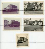 5 PHOTOTOGRAPHIES. Camion SAVIEM De La Société Transports COTTARD & CLEMENTE .1955  Photo R. LEROY SULLY Sur LOIRE - Auto's