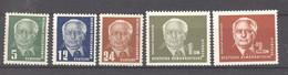 RDA  :  Mi  322-26  * - Unused Stamps