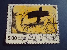 "1990-99 Oblitéré N° 2782    ""   Tableau Tapies   ""  ""   Essonne 1993 ""      Net   1 - Used Stamps"