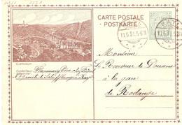 Carte Postale 102/1 Clervaux Avec Cachet Kayl - Stamped Stationery
