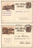 2 Cartes Postales 103 Clervaux + Vianden - Stamped Stationery