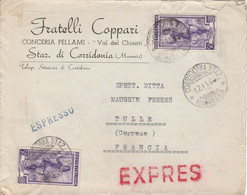 ITALIA ITALIE LETTRE EXPRESS ESPRESSO POUR FRANCE 1956 - 1946-60: Storia Postale