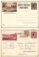 2 Cartes Postales 103 Mondorf + 105 Diekirch Vers La Suisse - Stamped Stationery