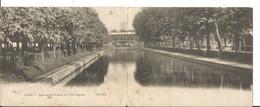 59 LILLE Carte Double Panorama De La Deule , Le Pont Napoléon - Lille