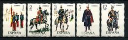 ESPAGNE 1978 N° 2096/2100 ** Neufs MNH Superbes C 1,30 € Chevaux Horses Animaux Uniformes Militaires Drapeaux Capitaines - 1971-80 Nuovi