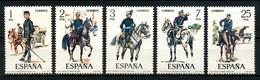 ESPAGNE 1977 N° 2069/2073 ** Neufs MNH Superbes C 1,50 € Chevaux Horses Animaux Uniformes Militaire Musique Trompette - 1971-80 Nuovi