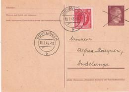 Carte Postale Cachet Dudelange 19.02.45 - Stamped Stationery